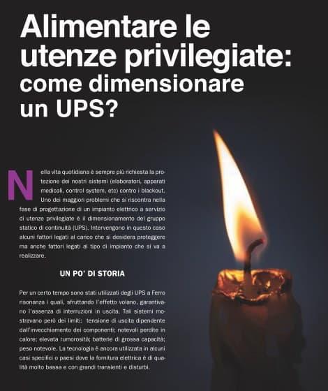 Prima pagina articolo Alimentare le utenze privilegiate, A&S Italy con consulenza 4Power srl